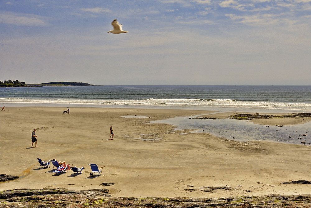 Higgins Beach, Scarborough, Maine.