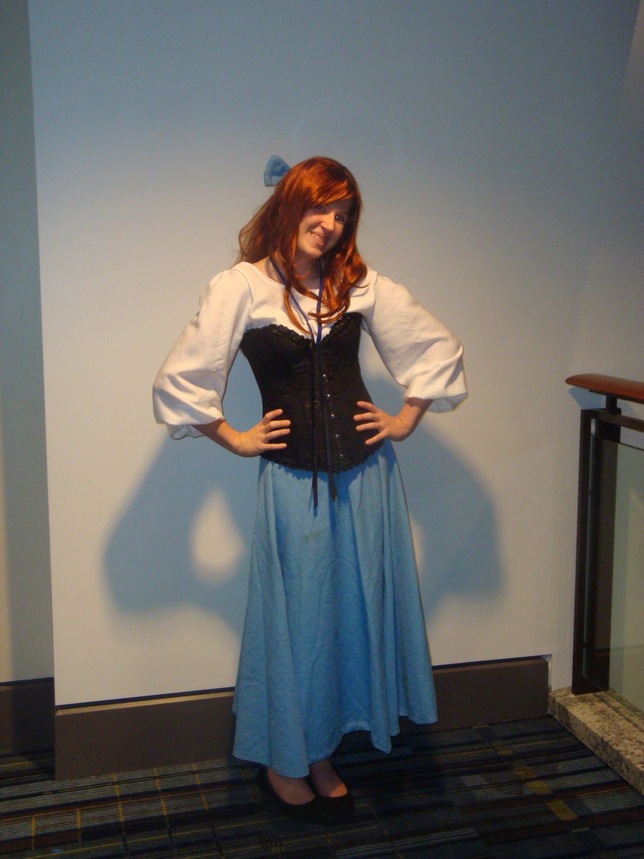 amrumley:  This is a few shots of me as Ariel from The Little Mermaid. Not the best photos, but I'm happy :). This one may have been my favorite to wear. I felt incredibly adorable and received a lot of compliments in it. Costume made by : http://lakefairy.tumblr.com/  So, one weekend, I need you to come up here and do a HUGE Disney shoot with me!!!  I will make ALL the princesses and we can flounce around and be pretty together!  :)