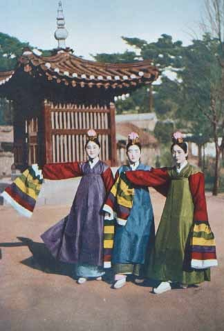기생 (Gisaeng) or Kisaeng, also called as 기녀 (ginyeo), were Korean female entertainers or sometimes prostitutes. They are mostly considered as the Korean counterpart of Japanese geishas.      Kisaeng were artists mostly hired for the royal court but were spread throughout the country. Kisaeng write poems, play music, and also dance. They received intense training during their childhood from which they possibly inherited from their mother, or sold from a poor family. Despite their service, they had inferior status in the society.     One of the most popular Kisaengs is 황진이 (Hwang Jin Yi), known for her talent, wit, and exceptional beauty.   NOTE: Images are from random sources available through Google Images.
