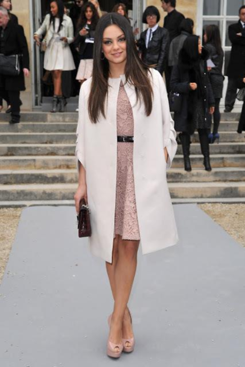 You don't have to be Mila Kunis to arrive in style in a sleek overcoat