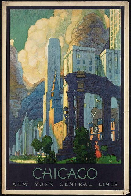 thingsmagazine:  Chicago, from the BPL's Travel Poster Collection