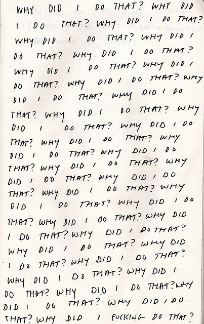 almostvintage:  why did i do that? by chelsea dirck on Flickr.