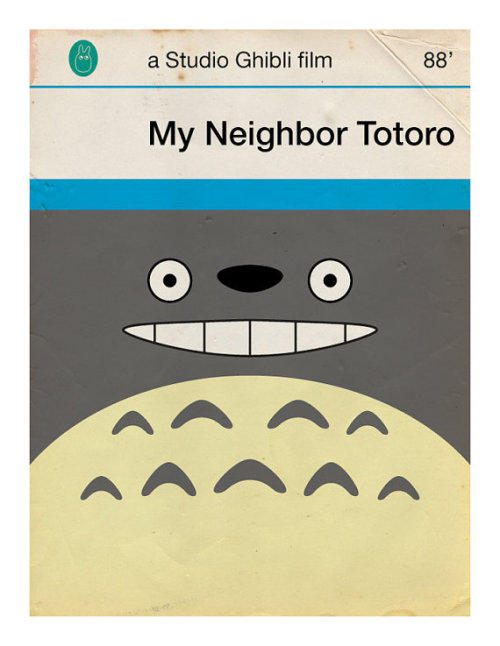 brain-food:  Miyazaki's films re-imagined as Penguin book covers by Jason K