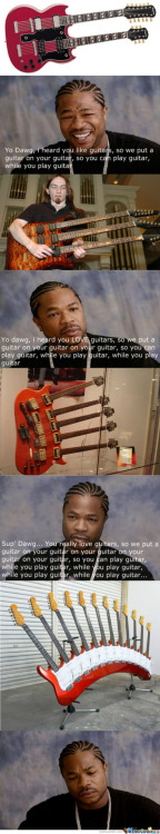 memecenterz:  Yo Dawg You Really Love Guitars