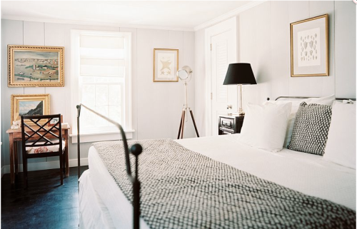 What a beautiful simple summer bedroom via Lonny Magazine