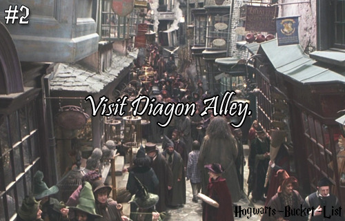 #2 Visit Diagon Alley. Reblog if you would love to do this!