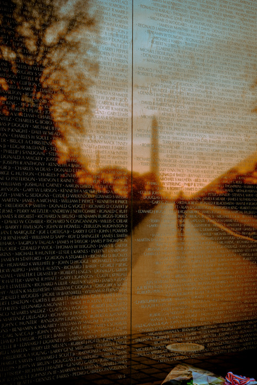 Deliberately setting aside the controversies of the war, the Vietnam Veterans Memorial honors the men and women who served when their Nation called upon them. The Memorial is a unit of National Mall and Memorial Parks. This world famous memorial stands prominently on the National Mall just northeast of the Lincoln Memorial.On this Memorial Day, we honor the men and women in uniform who have died in service our country.  Photo: Wei Sun, National Parks Service
