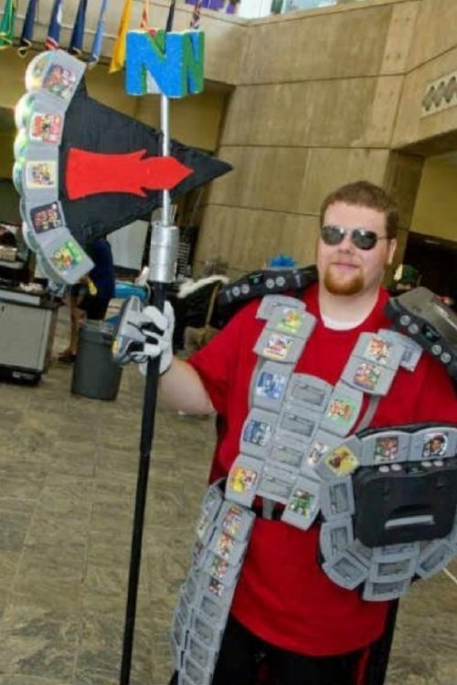 collegehumor:  Armor and Arms Made of Nintendo 64 Cartridges It never rusts, but you do have to blow on it every once in a while.   this is how I protect my virginity