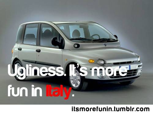 The irony of Fiat Multipla is that the creators of this car are considerd one of the best. O_o Source