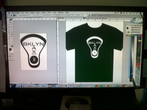 "Designing ""Shooter Shirts"" for the Brooklyn Lacrosse Club's 2012 summer tournaments."
