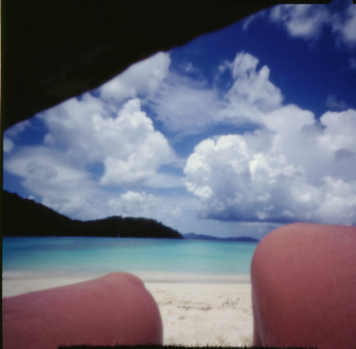 Beach pinhole | Shot with a Zero Image Pinhole camera and Fuji Provia 100F