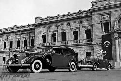 Royal Vehicles at Abdeen Palace in 1933. Abdeen, Cairo.