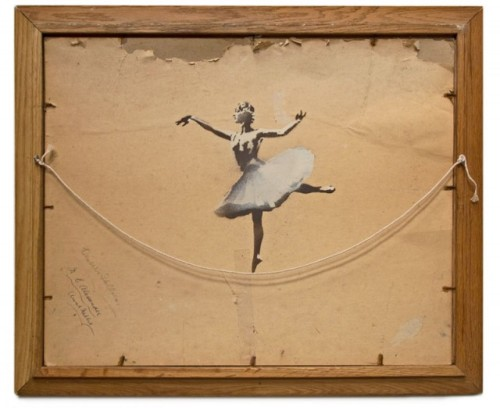 Ballerina by Banksy. Via Colossal.