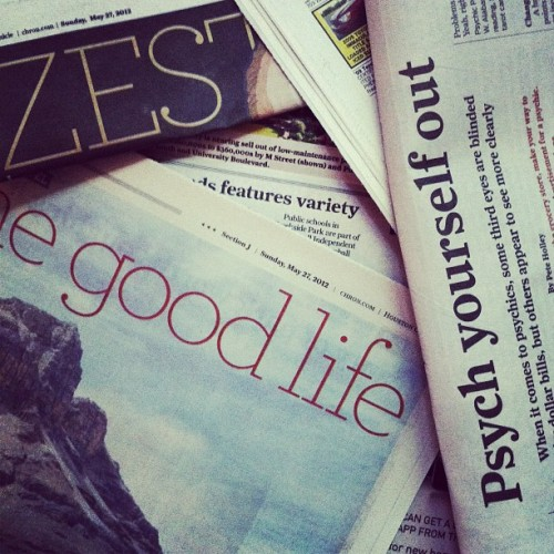 in today's news | #words #print #text #chronicle #newspaper (Taken with instagram)