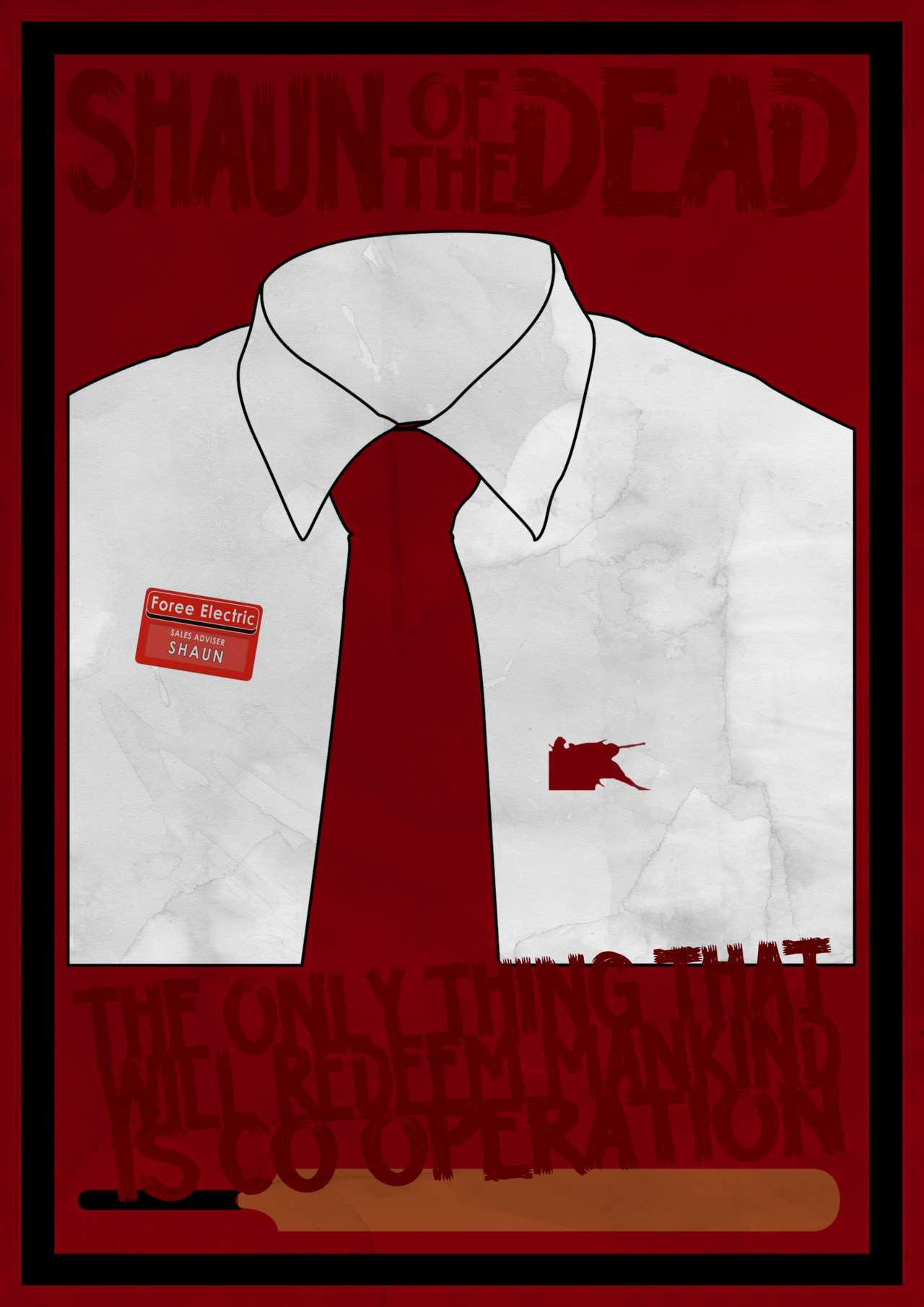 Poster one of my Shaun Of The Dead posters. I might try and sell them on Etsy when I'm done. Oh and D.A.D. if you're reading this, thanks for following!