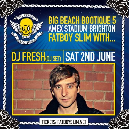 Playing with Fatboy Slim on Saturday in Brighton AMEX stadium - final few tickets left here!