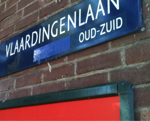 "Beneath every streetname there is the name of the district… like here ""Oud Zuid""… in 1962 our district got the name ""Overtoomse Veld""… which you still can read on all signs, when you look very very close… in 1990 they covered the old name and wrote the new: ""Oud Zuid"" PS in 2010 it changed again, now into ""Zuid""… except for these signs, they didn't change… don't know why… maybe they expect the next change soon ;-)"