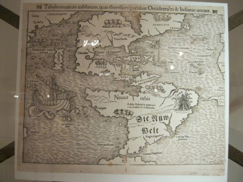 meredithamaple:  Awesome old map. Look closely and you can see Cuba in the middle.