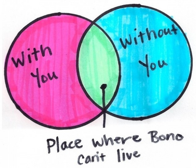The place where Bono can't live.