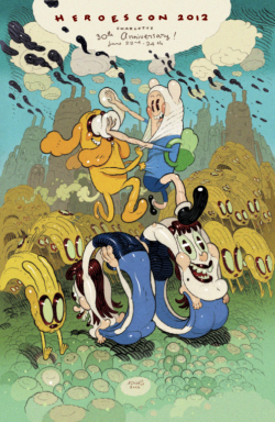 drawnblog:  Dave Cooper + Adventure Time is a match made in heaven.