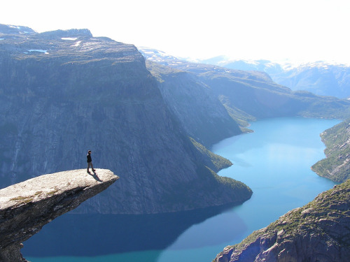samberrilicious:  Trolltunga norway (by dan;o)el)