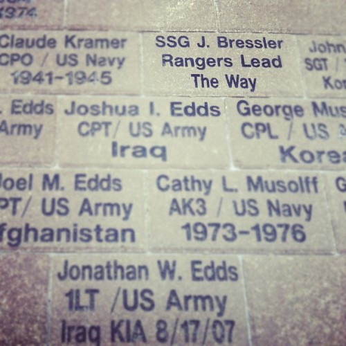 Thank you for your service. #memorialday #proudsister #rangersleadtheway  (Taken with instagram)
