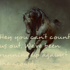 Dark Horses by Switchfoot. sorry i haven't been posting D: been busy with finals and playing pokemon. but mostly pokemon.