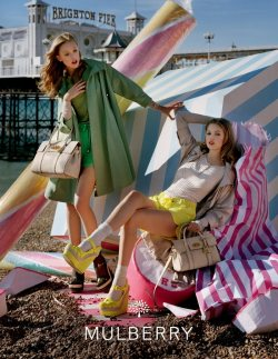 fashionthroughtravel:  Mulberry Spring 2012 Ad Campaign featuring Lindsay Wixson and Frida Gustavsson