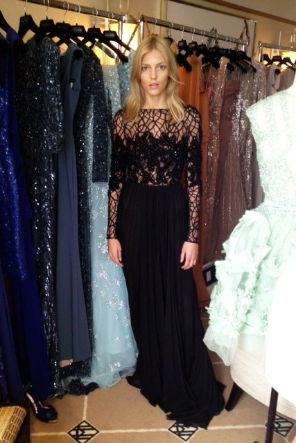 Anja in Elie Saab salon during the 65th Annual Cannes Film Festival 2012