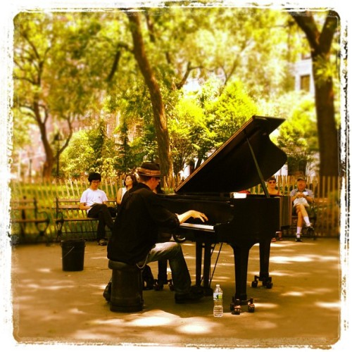 Monday afternoon concerto (Taken with Instagram at Washington Square Park)