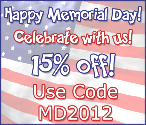 ♥ MEMORIAL DAY SALE! ♥Here in the United States, we're celebrating Memorial Day! Celebrate with us by taking 15% off EVERYTHING in the store with coupon code MD2012 - but hurry, because it only lasts through 11:59PM (PST) tonight!See Our Shop Here & Take 15% Off With Code MD2012:www.GothicLolitaWigs.com