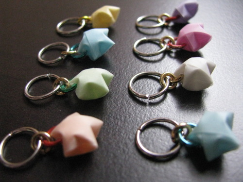 I love stitch markers. They make great key-chain charms too.
