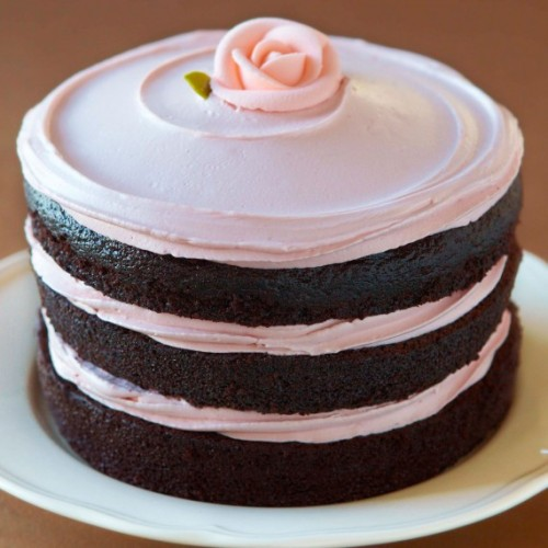 image of Miette tomboy cake via woman&home, from the book Miette Bakery Cookbook: Recipes from San Francisco's Most Charming Pastry Shop