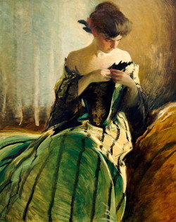 paperimages:  John White Alexander, Study in Black and Green, 1906