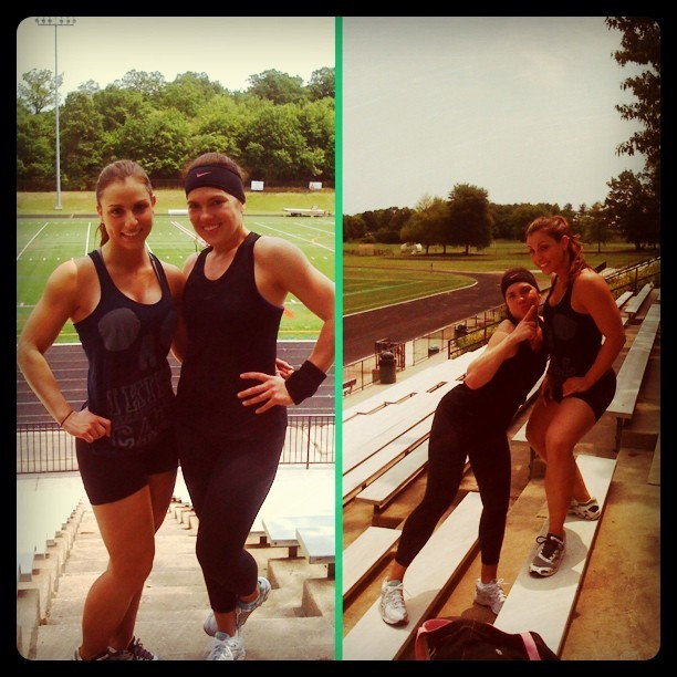 #FitFriends - Track Day w/ @SHFit9 @shfitness9 #track #bleachers #sweat #training #outdoor #makeithappen #counts #makeitcount #instagood #igers #fitspo (Taken with instagram)