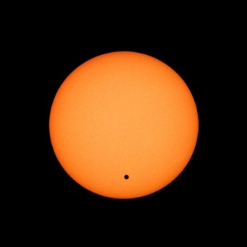 A transit of Venus occurs when Venus passes directly between the sun and Earth.  This alignment is rare, only having occurred eight times since the invention of the telescope. After June 5th, 2012, the next event occurs in 2117. This will be the last of your lifetime. Do not miss it.  http://www.transitofvenus.org