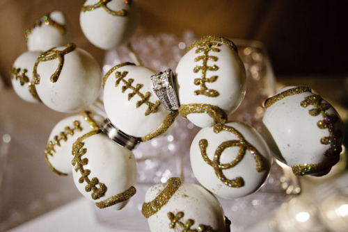 chanel football cake pops!