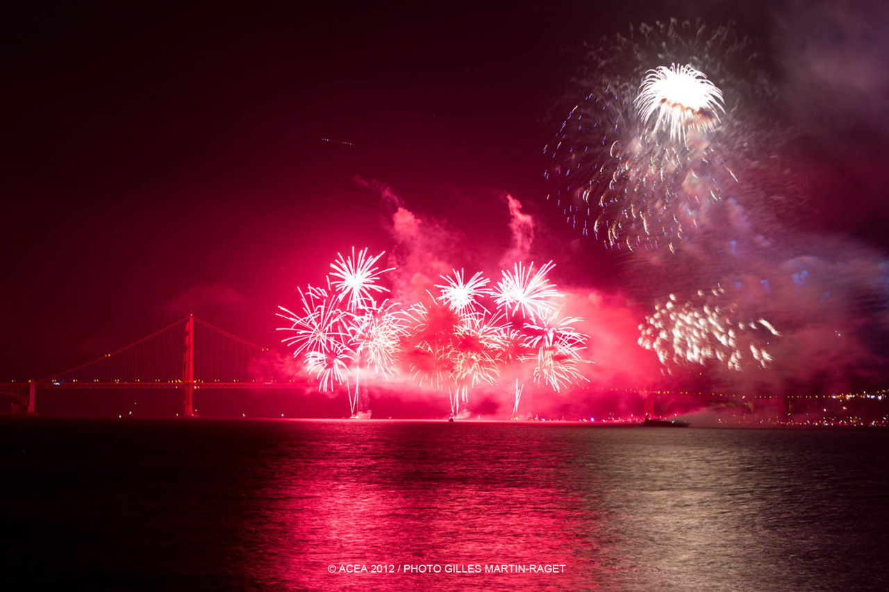 The most incredible fireworks over the Golden Gate Bridge!