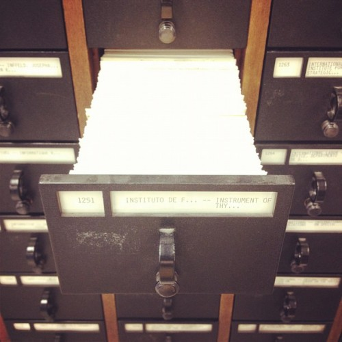 Card catalogue (Taken with instagram)