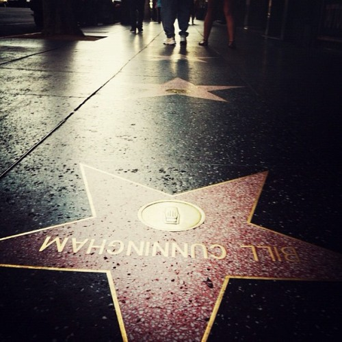 nolisuniverse:  The only star i cared to stop for. One of the best street photographers ever.  (Taken with instagram)  BILL IS A BOSS. LOOK HIM UP OF YOU'RE STILL SLEEP. -KID FUTURE-