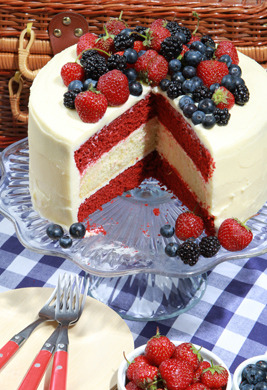Happy Memorial Day (via Glorious Red, White, and Blue Cake Photo at Epicurious.com)