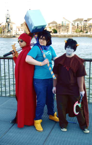 GAHHH I have 685 homestuck photos across dslr cam,camcorder and iphone to go through D: John Karkat Dave lacks tumblr (I think?) but Dave is Dave. Photo: Will