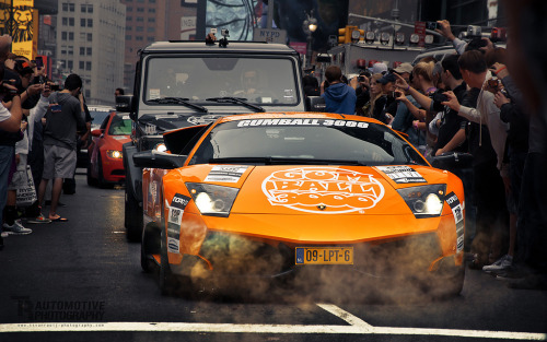 theragingbull:  Murcielago LP670-4 SV at the start of Gumball 3000 in NYC (by Thomas van Rooij)