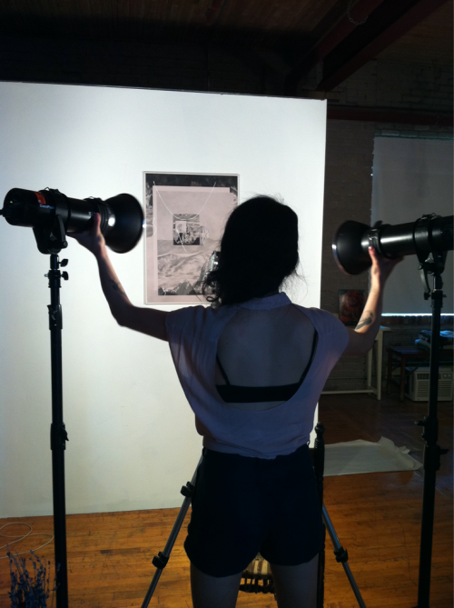 Documenting new work for upcoming show at XPACE. Thanks again, Laurie!