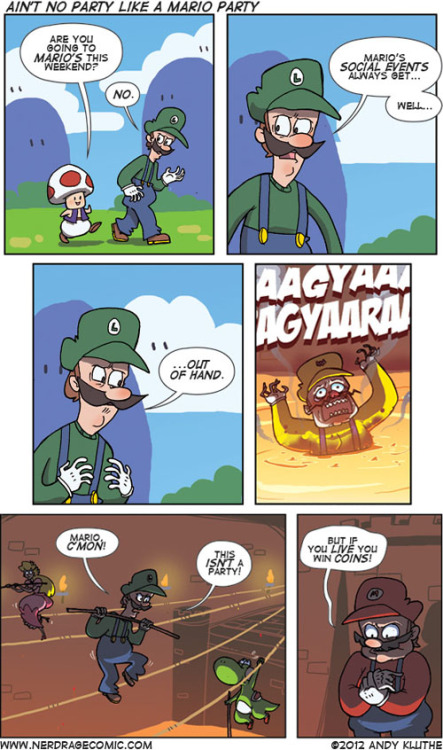memesanddemotivationals:  There's no party like a Mario Party!