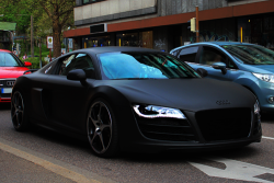 johnny-escobar:  Matte Black ABT Audi R8