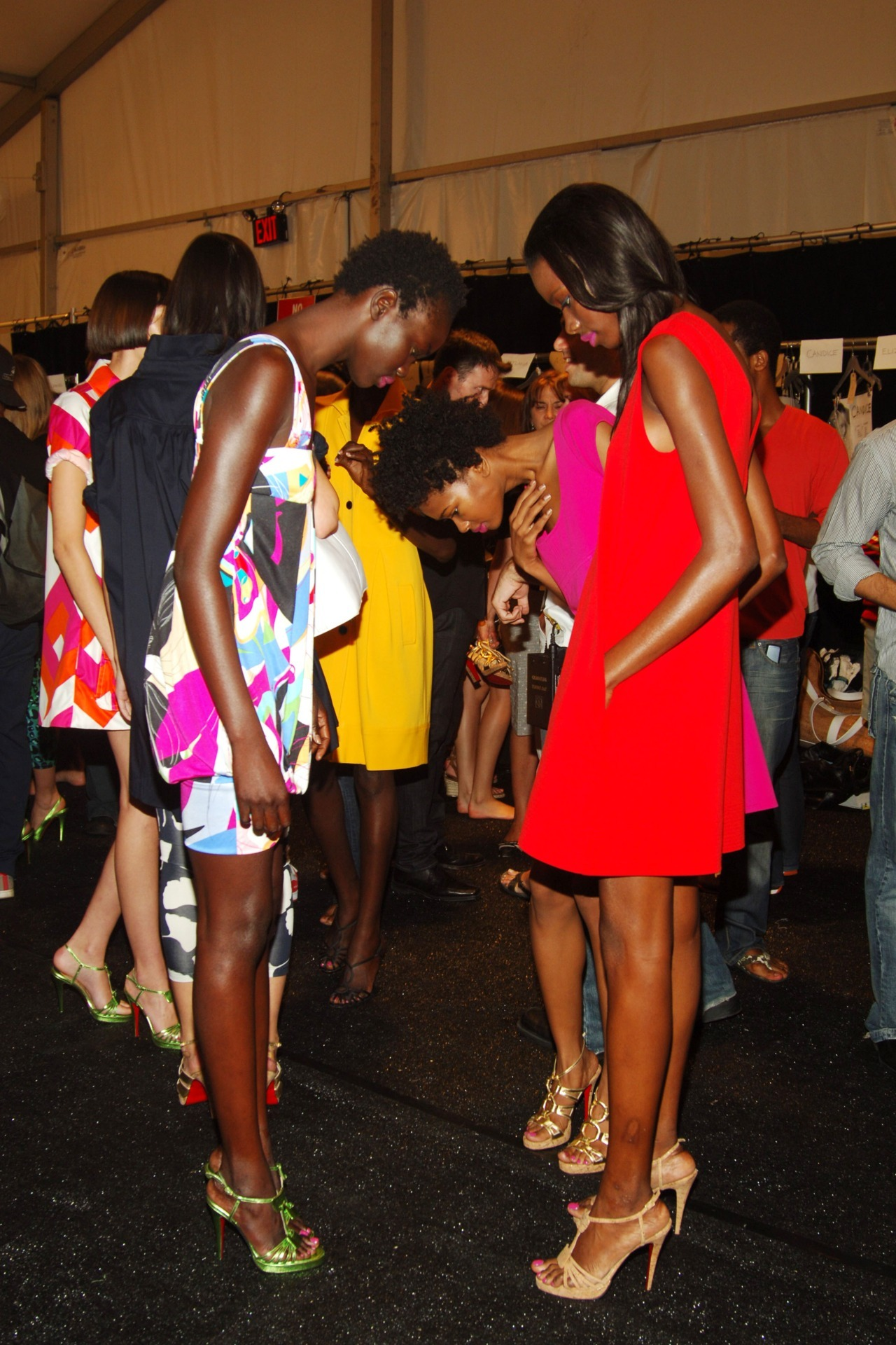 Vintage DvF backstage. Photo by PMc.