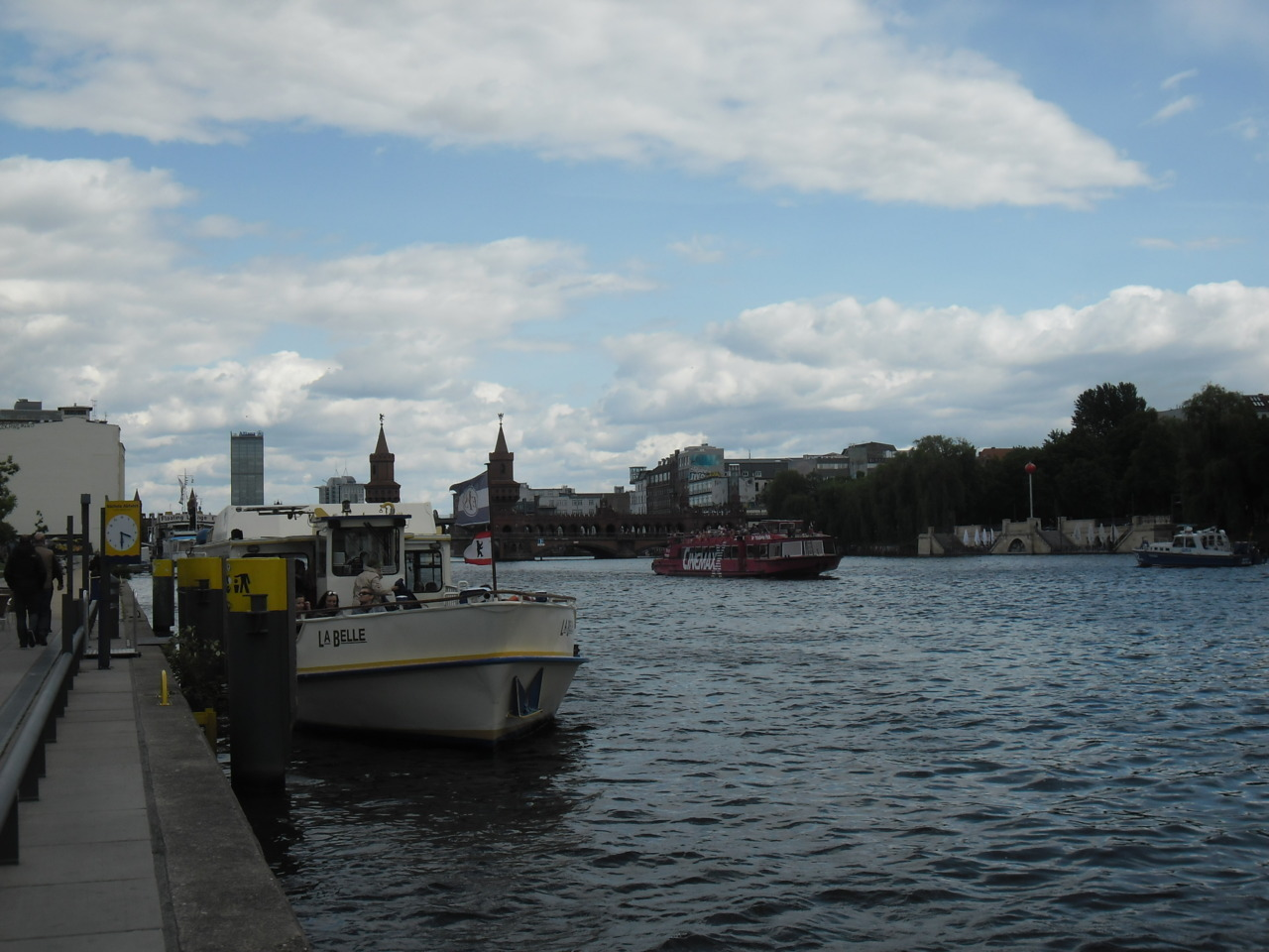 View over the Spree River from the East Side Gallery in Berlin, Germany. (Photo taken by me, 17 May 2012.)