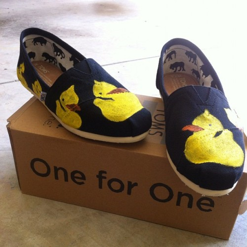The finished product!!! #rubberducks #toms #painting  (Taken with instagram)