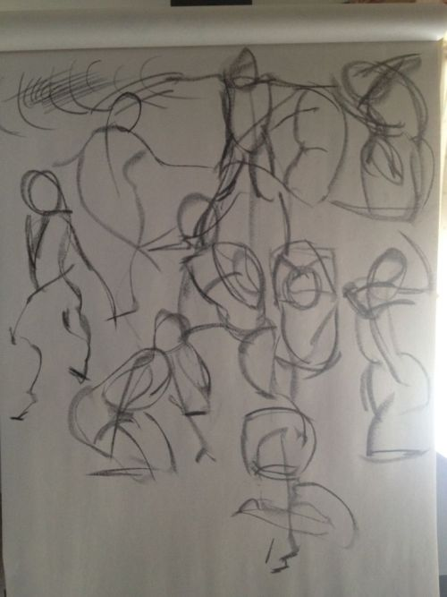 Another set of gesture drawings from photo reference. Source: http://www.pixelovely.com/gesture/figuredrawing.php